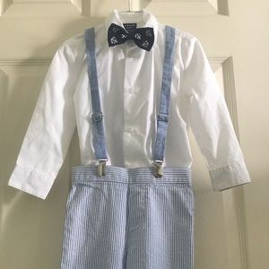 Boys button down and pants set
